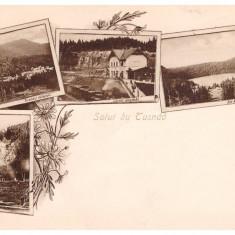 Tusnad - Ilustrata litho aprox. 1900, gara - Carte Postala Transilvania 1904-1918