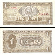 Romania 1966 - 1 leu UNC - Bancnota romaneasca