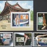 Africa Centrala 1988 - JO Seoul, serie+colita ndt neuzata - Timbre straine