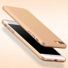 Husa iPhone 7 Plus Ultraslim Gold - Husa Telefon Apple, iPhone 7/8 Plus, Auriu, Plastic, Fara snur, Carcasa