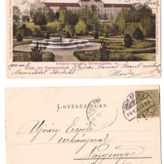 Sibiu 1904 - Garnisons-Spital, ilustrata litho circulata