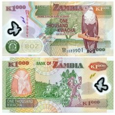 Zambia 2011 - 1000 kwacha, polimer - bancnota africa