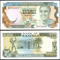 Zambia 1989 - 20 kwacha UNC - bancnota africa
