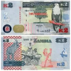 Zambia 2012 - 2 kwacha UNC - bancnota africa