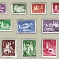 Ungaria 1960 - cetati I, serie neuzata - Timbre straine