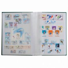 Clasor timbre cu 8 file / 16 pagini albe