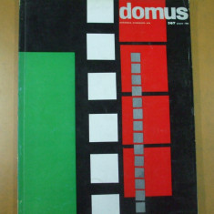 Domus 1960 revista arhitectura Milano Elba New York librarie mobila