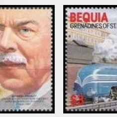 Bequia Grenadines of St Vincent 1986 - locomotive, serie neuzata - Timbre straine