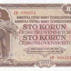 Bancnota Cehoslovacia 100 Koruna 1953 - P86 UNC - bancnota europa