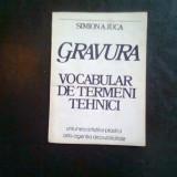 GRAVURA. VOCABULAR DE TERMENI TEHNICI - SIMION A. IUCA - Carte Istoria artei