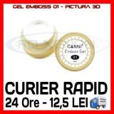GEL EMBOSS CANNI 01 - PICTURA 3D PT LAMPA UV, MANICHIURA GEL, GELURI COLOR - Gel unghii Sina