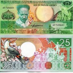 SURINAME 25 GULDEN 1988 - UNC - bancnota america