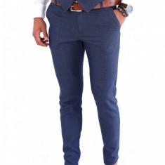 Pantaloni tip ZARA bleumarin - pantaloni barbati - pantaloni office - 7886, Marime: S, M, XL, Culoare: Din imagine