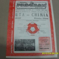 Program UTA - Chimia Rm. Vilcea - Program meci