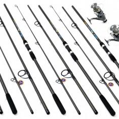Set 4 Lansete Crap 3.3m Cu 4 Mulinete DMR 60 Long Cast - Set pescuit