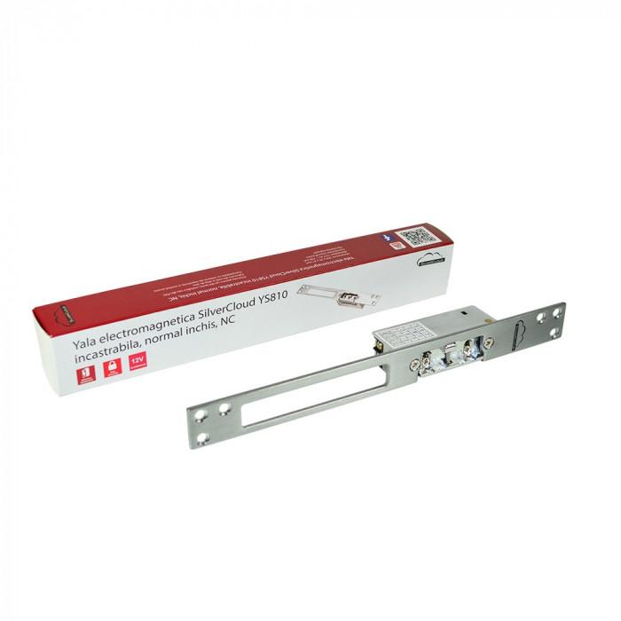 Resigilat : Yala electromagnetica SilverCloud YS810 incastrabila,Fail Secure NO