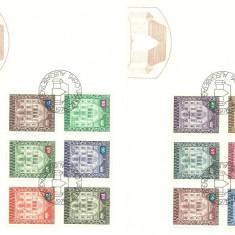 Liechtenstein 1976 - arhitectura, serie FDC