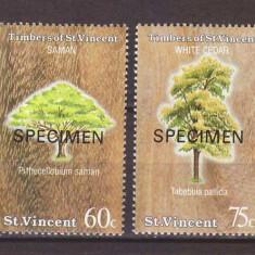 St Vincent 1986 - Arbori, serie neuzata SPECIMEN - Timbre straine