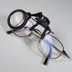 Lupa clip-on pentru ochelari, marire 5x