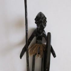 RAZBOINIC-2-arta africana-sculptura in lemn, vintage - Arta din Africa