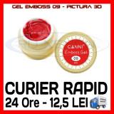 GEL EMBOSS CANNI 09 - PICTURA 3D PT LAMPA UV, MANICHIURA GEL, GELURI COLOR - Gel unghii Sina