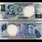 Filipine 1969 - 1 piso UNC - bancnota asia