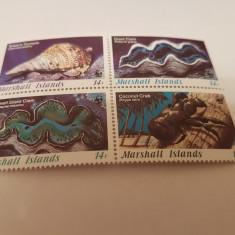 Anglia/colonii/marshall 1986 moluste - Timbre straine, Nestampilat