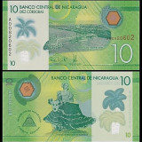 Nicaragua 2015 - 10 cordobas UNC, polimer - bancnota america
