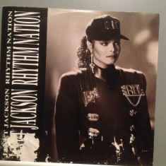 JANET JACKSON - RHYTHM NATION (1989/A & M REC/RFG) - VINIL MaxiSingle - Muzica Dance universal records