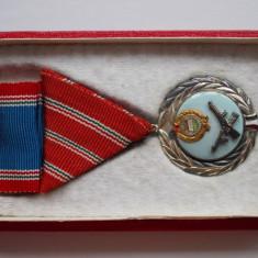 Ungaria - Medalia Pentru Merit, argintat, cu bareta si cutie
