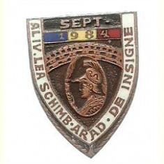 Insigna Schimb Insigne Arad 1984