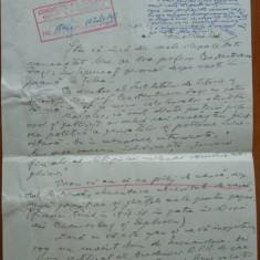 Scrisoare a lui Ion Clopotel catre Petru Groza, cu rezolutia acestuia, 1951 - Autograf