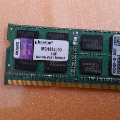 Memorie Laptop Kingston Sodimm DDR3 4 GB 1333 Mhz PC3-10600 MHz - Memorie RAM laptop Samsung