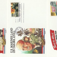 SUA 1993 - ww2, 3 buc carton FDC 3