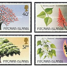Pitcairn Islands 1987 - arbori, serie neuzata