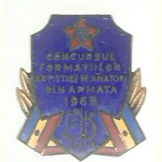 Insigna Conc.Form.Art.de amatori din armata 1965