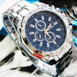 Cumpara ieftin Ceas Barbati Quartz Casual Elegant ORLANDO Silver Chronomat | CALITATE GARANTATA