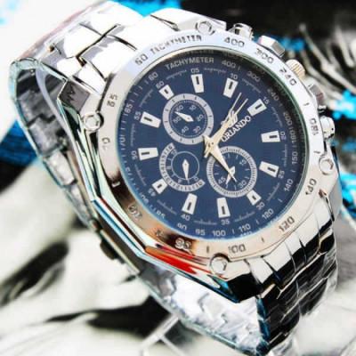 Ceas Barbati Quartz Casual Elegant ORLANDO Silver Chronomat | CALITATE GARANTATA foto