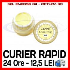 GEL EMBOSS GD COCO 04 - PICTURA 3D PT LAMPA UV, MANICHIURA GEL, GELURI COLOR