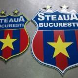 Emblema club STEAUA BUCURESTI, cu doua stele aprox 10 cm x 12 cm
