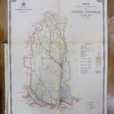 Harta cailor de comunicatie din Judetul Covurlui 1916 - Harta Romaniei