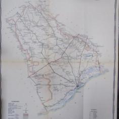 Harta cailor de comunicatie din Judetul Vlasca 1916 - Harta Romaniei