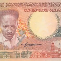 Bancnota Suriname 500 Gulden 1988 - P135 UNC - bancnota america