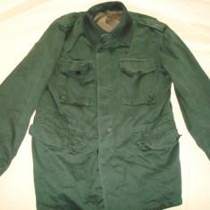 Parka/Geaca/Haina militara germana barbati/politie, anii'80-'90/colectie - Jacheta barbati, Marime: XL, Culoare: Verde, Bumbac