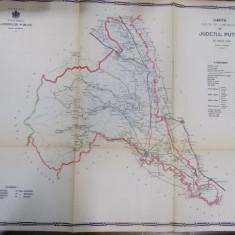 Harta cailor de comunicatie din Judetul Putna 1914 - Harta Romaniei