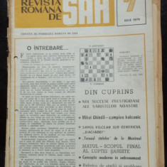 REVISTA ROMANA DE SAH NR.7/IULIE 1979