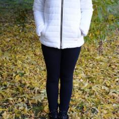 Jacheta casual, scurta, din fas, de culoare alba, cu fermoar (Culoare: ALB, Marime: M-38) - Jacheta dama