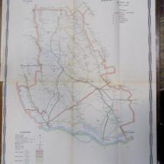 Harta cailor de comunicatie din Judetul Teleorman 1916 - Harta Romaniei