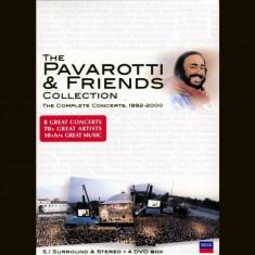 Luciano Pavarotti - Pavarotti & Friends: The Complete Concerts 1992-2000 ( 4 DVD ) - Muzica Opera