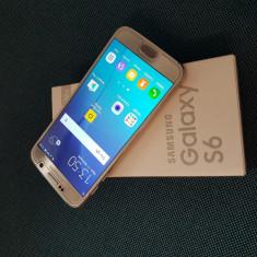 Samsung Galaxy S6 32GB - Telefon mobil Samsung Galaxy S6, Auriu, Orange